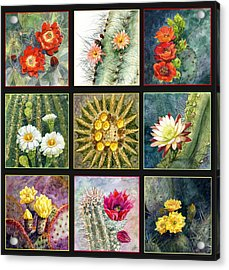 Acrylic Print featuring the painting Cactus Series by Marilyn Smith
