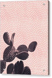 Cactus With Polka Dots Acrylic Print