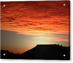 Caddis Sunset Acrylic Print