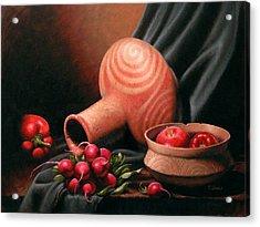 Caddo Jar - Red Study Acrylic Print by Timothy Jones