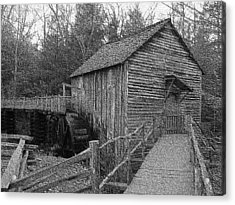 Cades Cove Grist Mill In Cades Cove Acrylic Print by Steve Carpenter