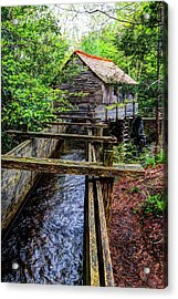 Cades Cove Grist Mill In The Great Smoky Mountains National Park  Acrylic Print