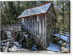 Cades Cove Grist Mill In Winter Acrylic Print