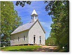 Cades Cove Methodist Church Acrylic Print