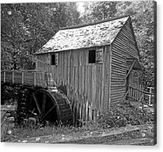 Cades Cove Mill Acrylic Print by Robert Clayton