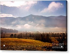 Cades Cove Misty Morn Acrylic Print by Marilyn Carlyle Greiner