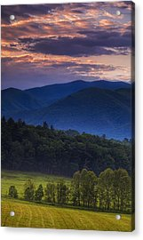 Cades Cove Morning Acrylic Print by Andrew Soundarajan