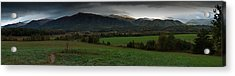 Cades Cove Panoramic Acrylic Print