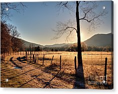 Acrylic Print featuring the photograph Cades Cove, Spring 2017,i by Douglas Stucky