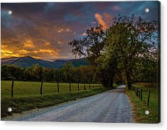 Acrylic Print featuring the photograph Cades Cove Sunrise by Michael Sussman