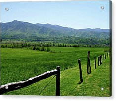Cades Cove View Acrylic Print by Nancy Mueller