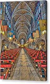 Acrylic Print featuring the photograph Cadet Chapel Remix by Dan McManus