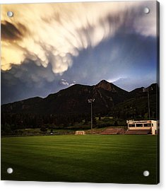 Acrylic Print featuring the photograph Cadet Soccer Stadium by Christin Brodie