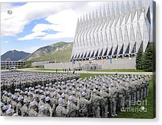 Cadets Recite The Oath Of Allegiance Acrylic Print by Stocktrek Images