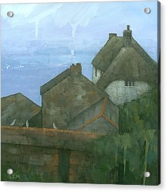 Cadgwith Rooftops Acrylic Print by Steve Mitchell