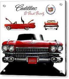 Acrylic Print featuring the photograph Cadillac 1959 by Gina Dsgn