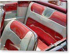 Cadillac El Dorado 1958 Seats. Miami Acrylic Print