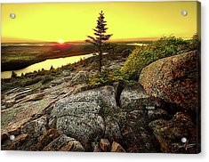 Acrylic Print featuring the photograph Cadillac Mountain Sunset by David A Lane
