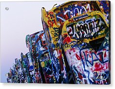 Cadillac Ranch Acrylic Print by Jeremy Woodhouse