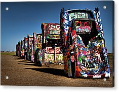 Cadillac Ranch Acrylic Print by Lana Trussell