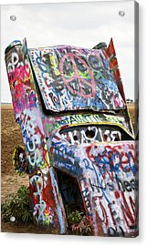 Cadillac Ranch Acrylic Print by Marilyn Hunt