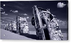 Cadillac Ranch Acrylic Print by Steve Williams
