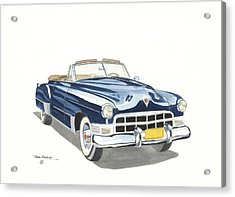 Cadillac Series 62 1949 Acrylic Print by John Kinsley