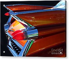 Acrylic Print featuring the photograph Cadillac Tail Fin View by Patricia L Davidson