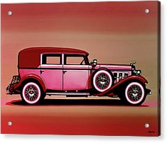 Cadillac V16 Mixed Media Acrylic Print by Paul Meijering