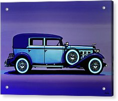 Cadillac V16 1930 Painting Acrylic Print by Paul Meijering