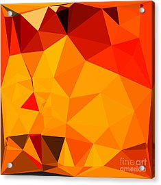 Cadmium Yellow Abstract Low Polygon Background Acrylic Print by Aloysius Patrimonio