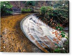 Caeau Weir Acrylic Print by Adrian Evans