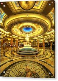 Caesar's Grand Lobby Acrylic Print by Yhun Suarez
