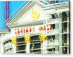 Caesar's Palace Hung Over View Acrylic Print by Richard Henne