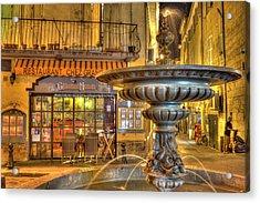 Cafe, Aix-en-provence Acrylic Print