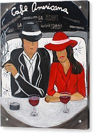 Cafe Americana - La  Acrylic Print by Victoria  Johns