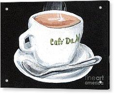 Cafe Au Lait Acrylic Print by Elaine Hodges