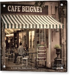 Cafe Beignet 2 Acrylic Print by Jerry Fornarotto