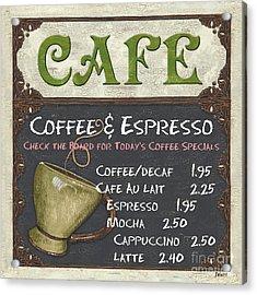 Cafe Chalkboard Acrylic Print