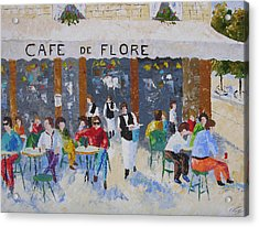 Cafe De Flore Paris France Acrylic Print