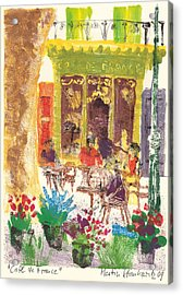 Cafe De France Acrylic Print by Martin Stankewitz