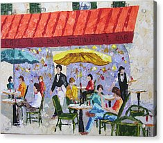 Cafe De La Paix Paris France Acrylic Print