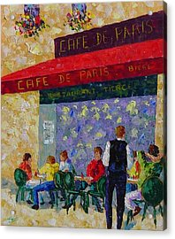 Cafe De Paris France Acrylic Print