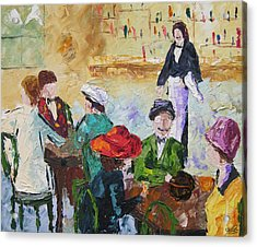 Cafe Des Batignolles Paris France Acrylic Print