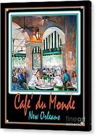 Cafe Du Monde Acrylic Print by Dianne Parks