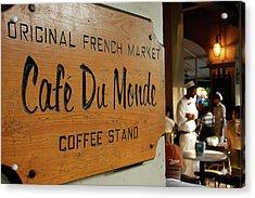 Cafe Du Monde Acrylic Print by KG Thienemann