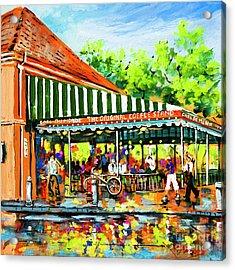 Cafe Du Monde Lights Acrylic Print