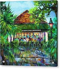 Cafe Du Monde Morning Acrylic Print