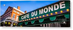 Cafe Du Monde New Orleans Picture Acrylic Print by Paul Velgos
