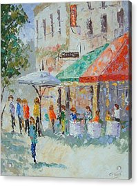 Cafe Du Quartier Latin Paris France Acrylic Print